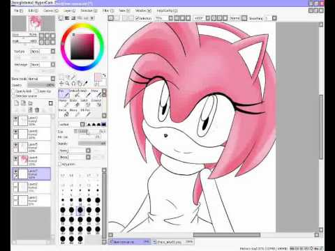 Drawing Amy Rose [Paint Tool SAI]