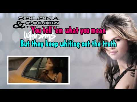 selena gomez who says instrumental / lyrics