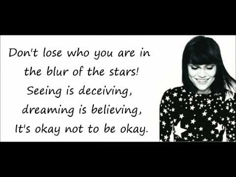 jessie j - who you are - lyrics on screen