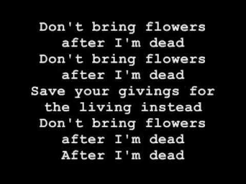 Erik Hassle - Don't bring flowers after I'm dead LYRICS