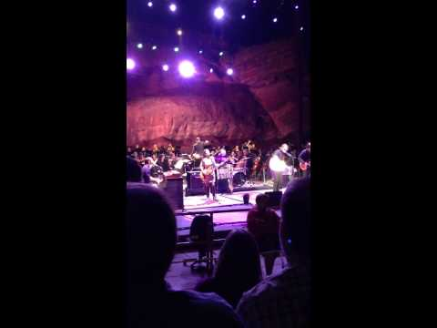 Amos Lee, Violin, Red Rocks Amphitheater with The Colorado Symphony Orchestra 8/1/2014