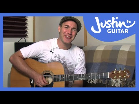 Mad World - Gary Jules (Easy Beginner Song Guitar Lesson BS-302) how to play