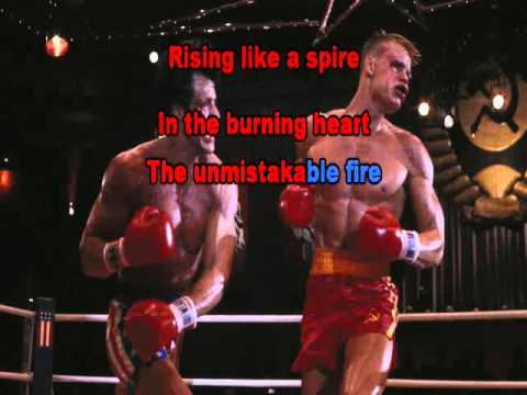Basi musicali Karaoke con testo Survivor Burning Heart (Rocky 4 Soundtrack)